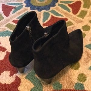 Black Leather/Suede 8.5 booties